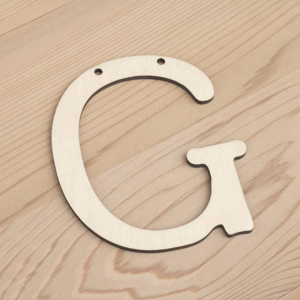 10cm alphabet bunting letter G