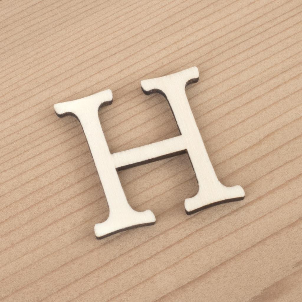 wooden 3cm alphabet letter H