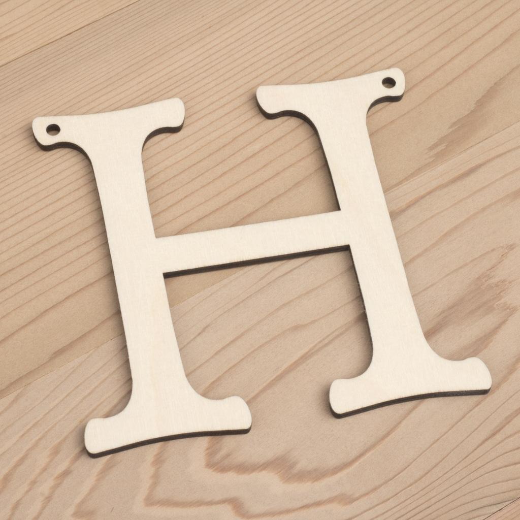 10cm alphabet bunting letter H