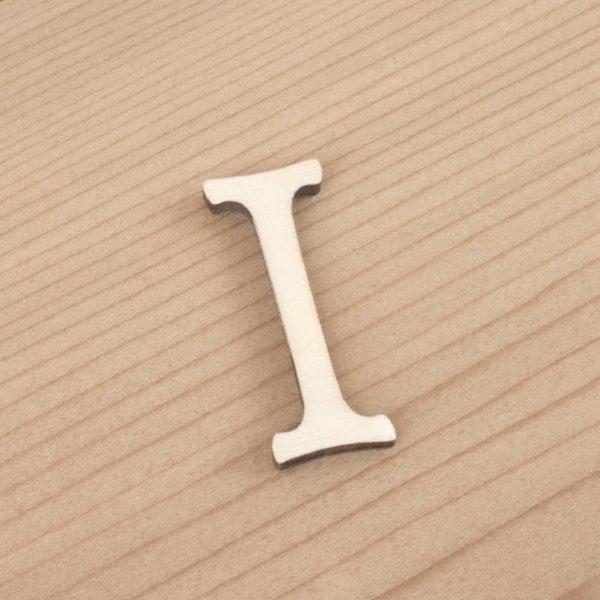 wooden 3cm alphabet letter I