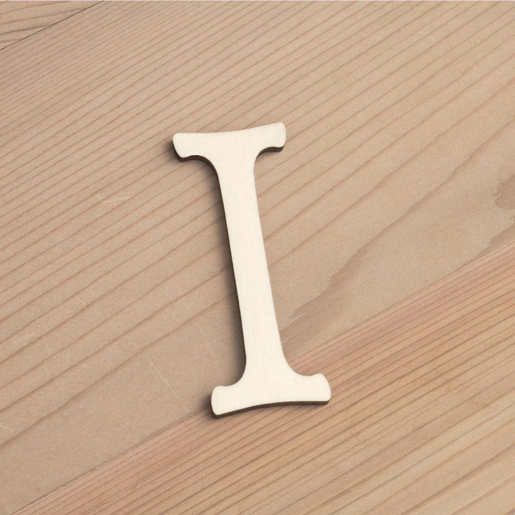 Wooden 6cm Alphabet ~ Letter I   Artcuts