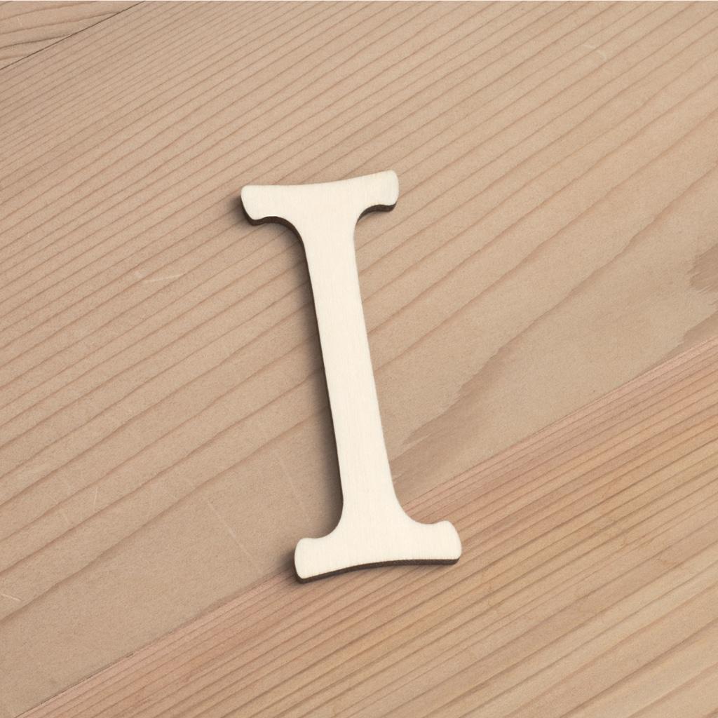 Wooden 6cm letter I