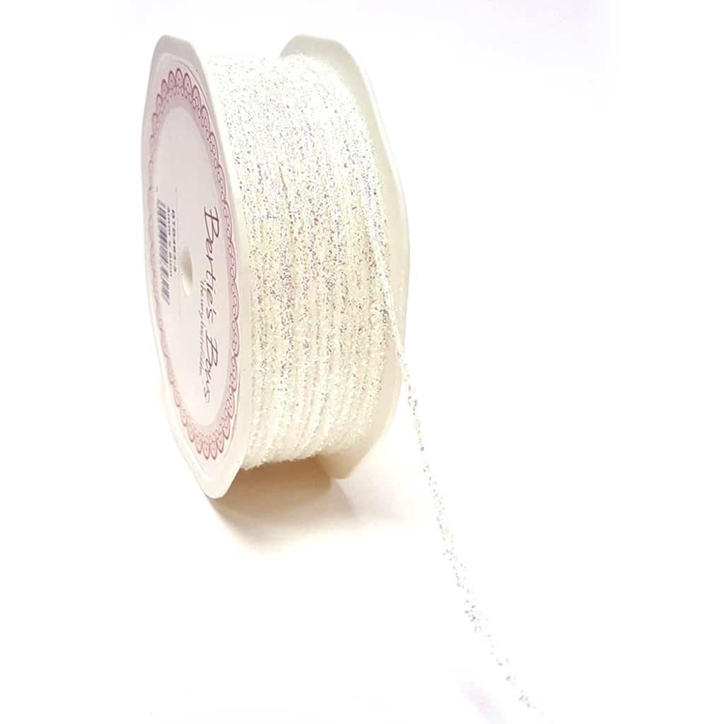 Iridescent glitter cord