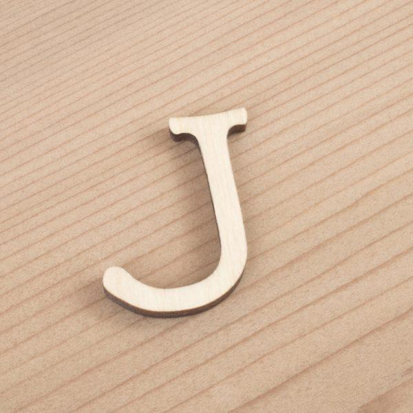 wooden 3cm alphabet letter J