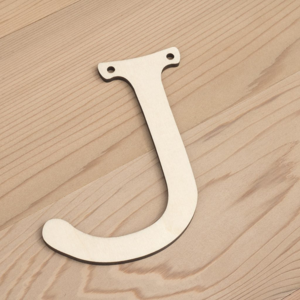 Wooden Alphabet Bunting ~ Letter J   Artcuts