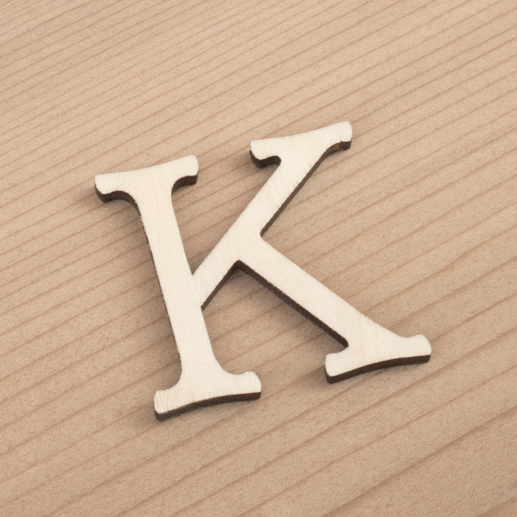 wooden 3cm alphabet letter K