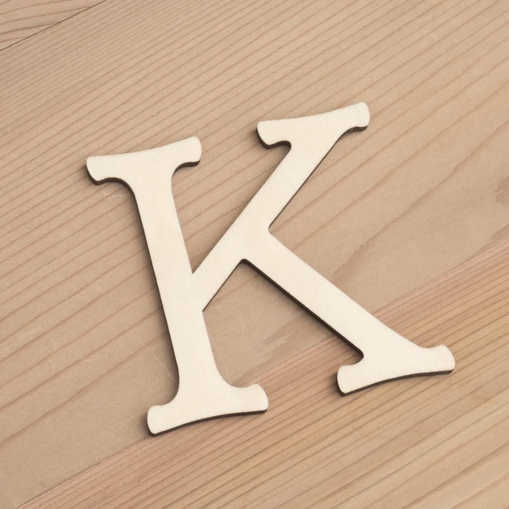 Wooden 6cm letter K