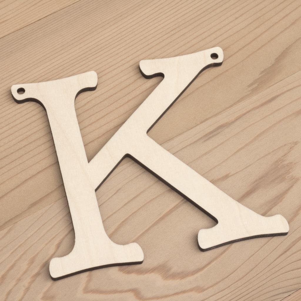 10cm alphabet bunting letter K