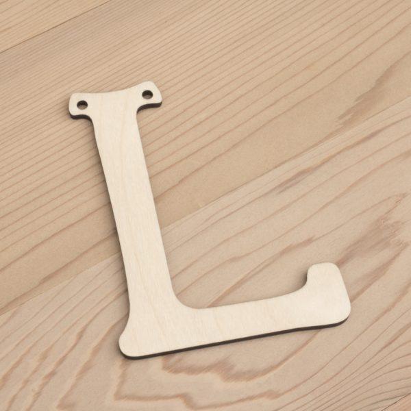 10cm alphabet bunting letter L