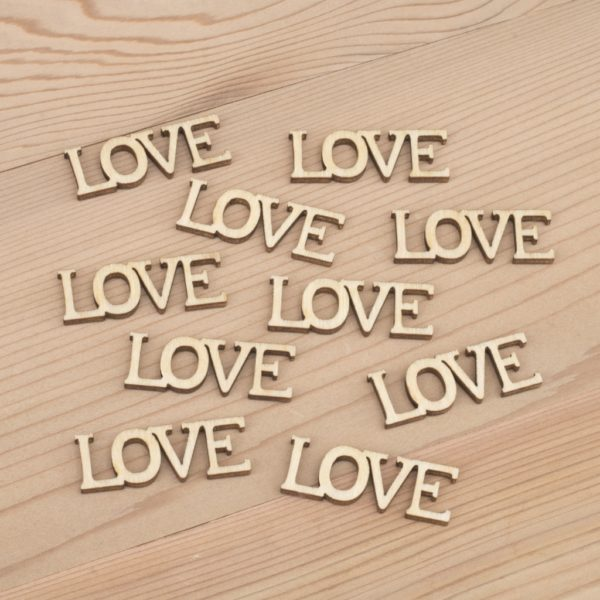 Mini wooden Love words craft embellishment