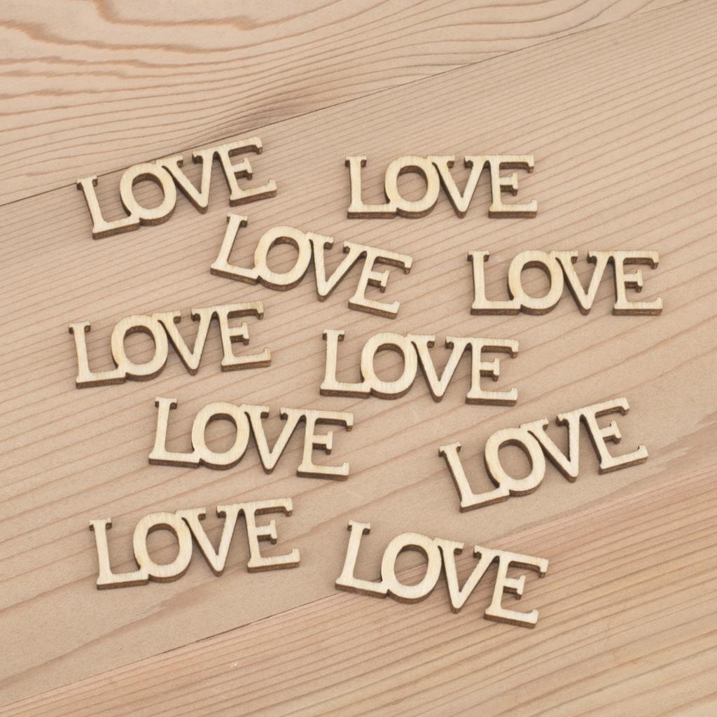 Mini wooden Love words craft embellishment