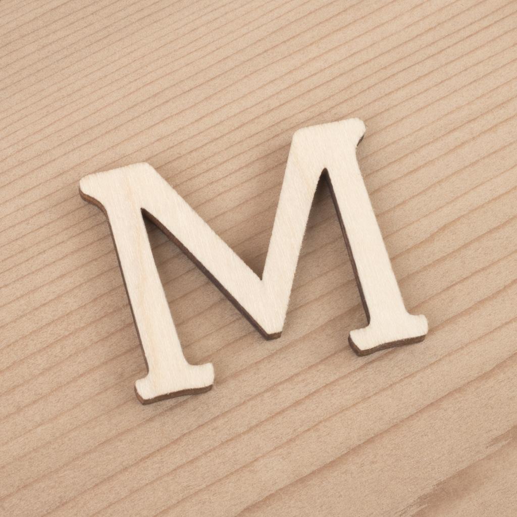 wooden 3cm alphabet letter M