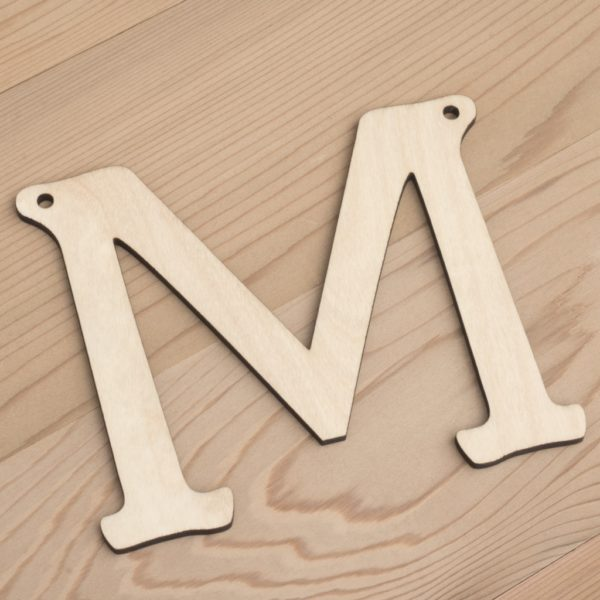 10cm alphabet bunting letter M