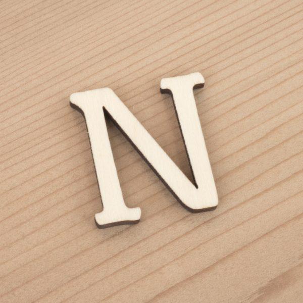 wooden 3cm alphabet letter N