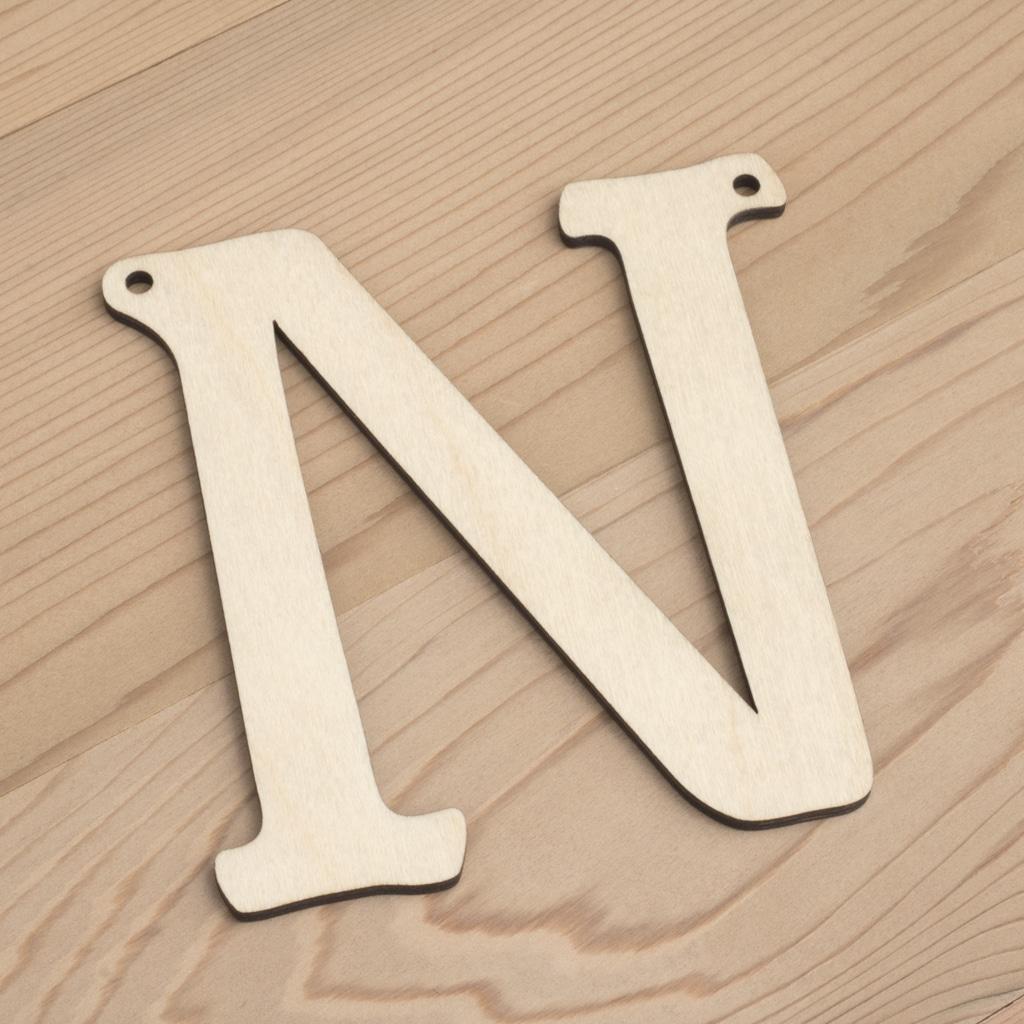 10cm alphabet bunting letter N