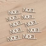 Mini wooden Noel words craft embellishment