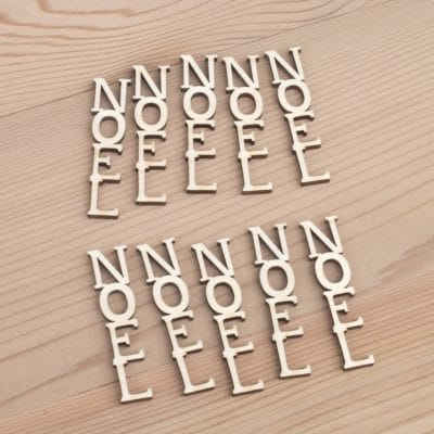 Mini wooden Noel Vertical words craft embellishment