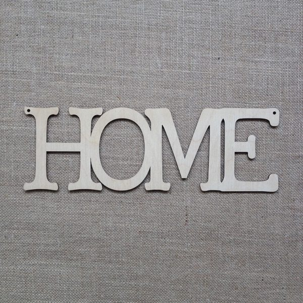 wooden hanging HOME sign