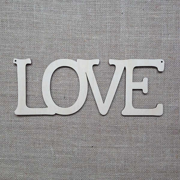 wooden hanging LOVE sign