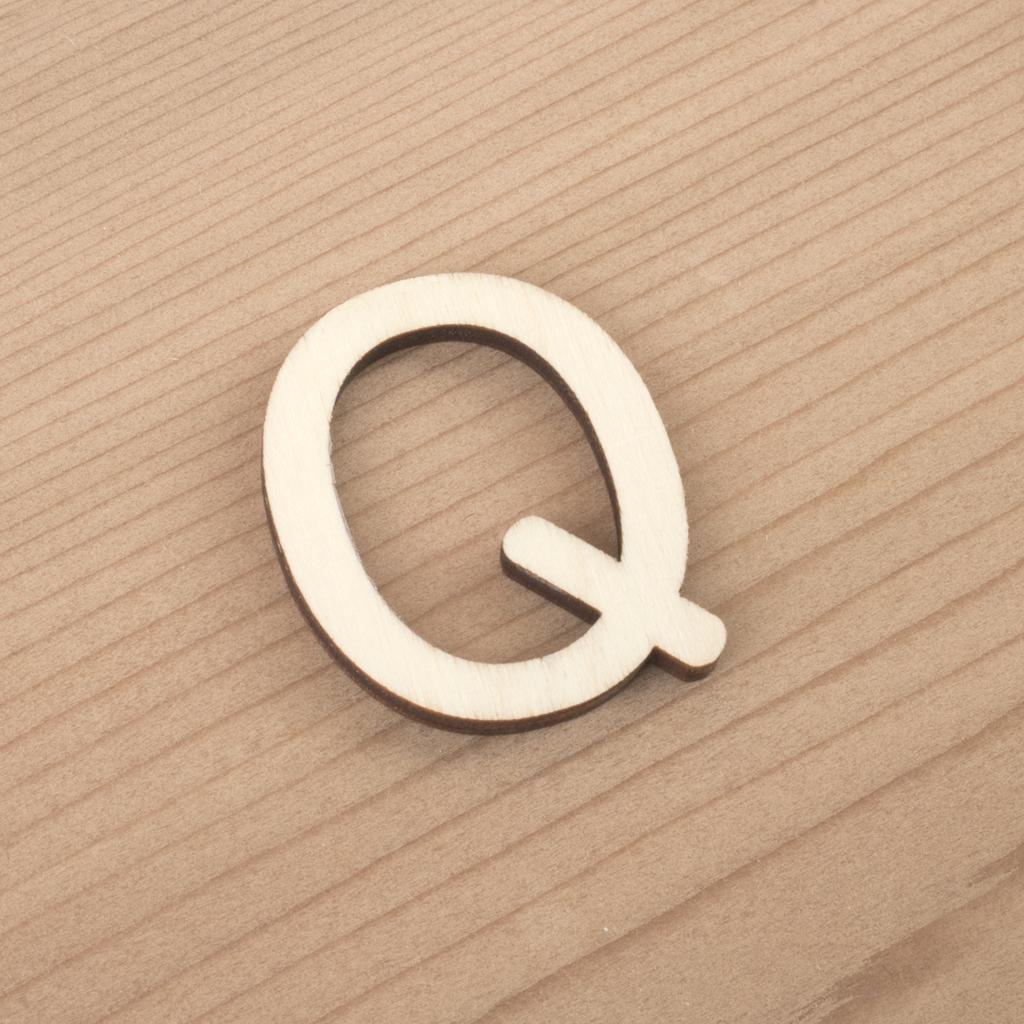 wooden 3cm alphabet letter Q