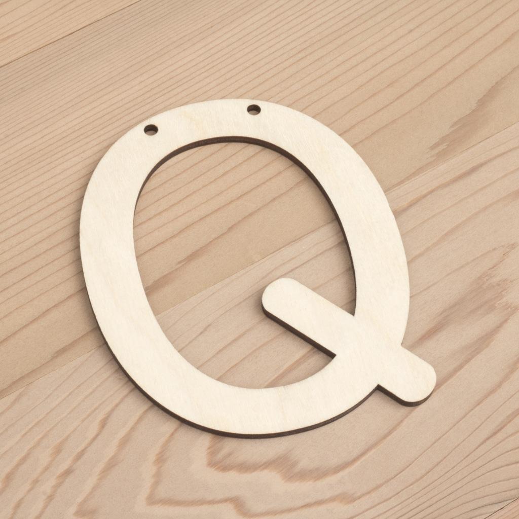 10cm alphabet bunting letter Q