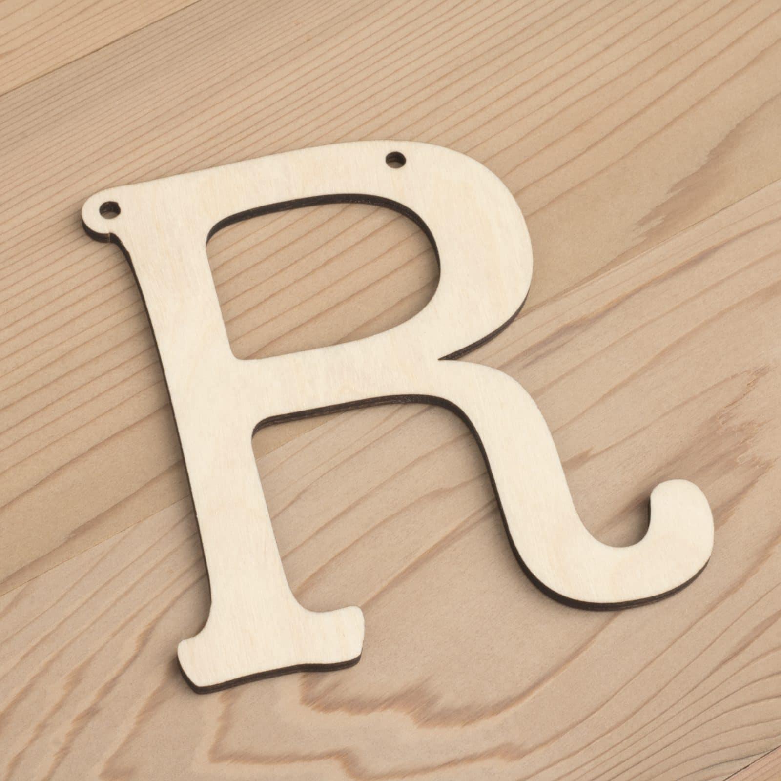 10cm alphabet bunting letter R