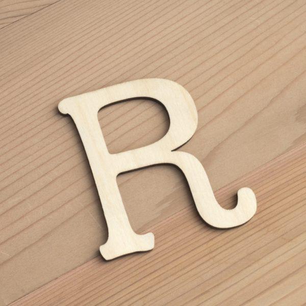 Wooden 6cm letter R