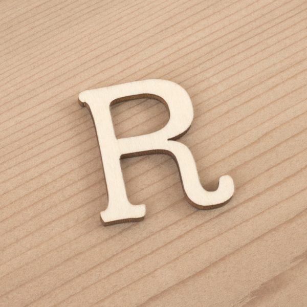 wooden 3cm alphabet letter R