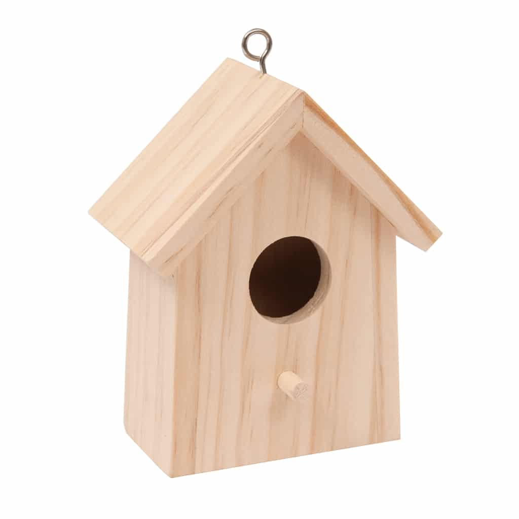 wooden birdhouse