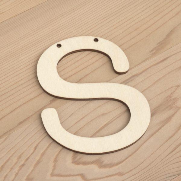 10cm alphabet bunting letter S