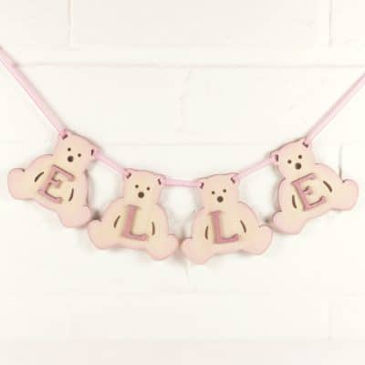 Sample Wooden Teddy Bear Bunting