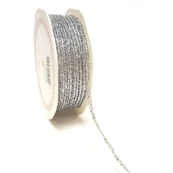 silver glitter cord