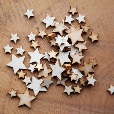 mini mixed wooden stars
