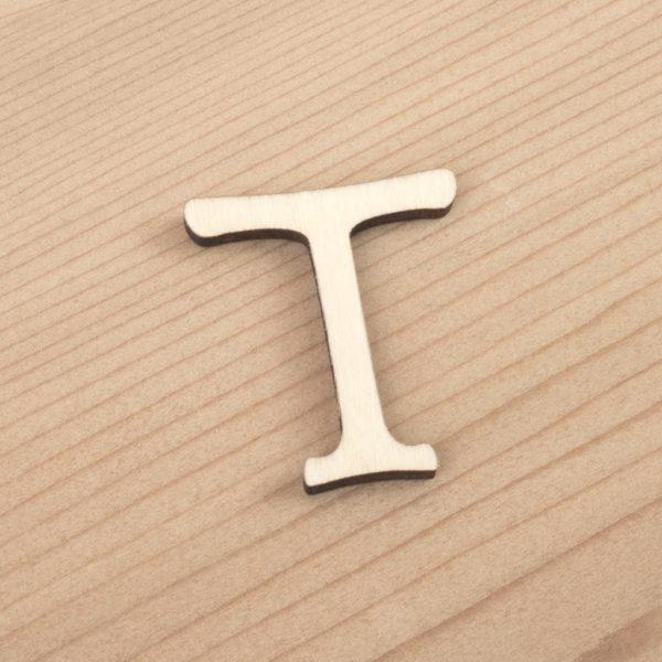 wooden 3cm alphabet letter T
