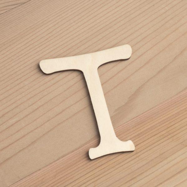 Wooden 6cm letter T