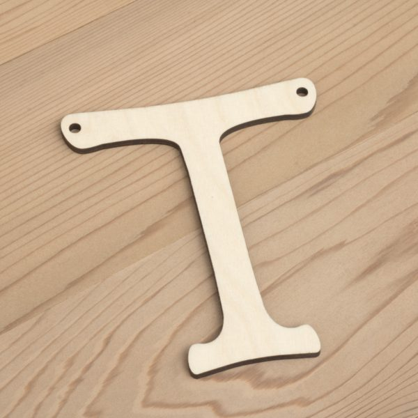 10cm alphabet bunting letter T