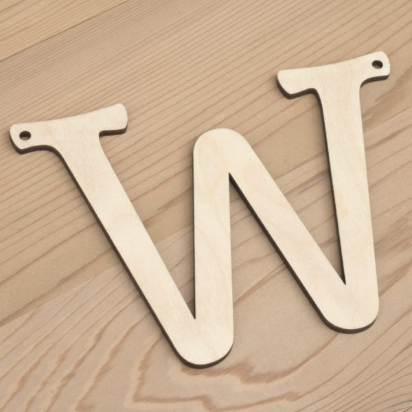 10cm alphabet bunting letter W