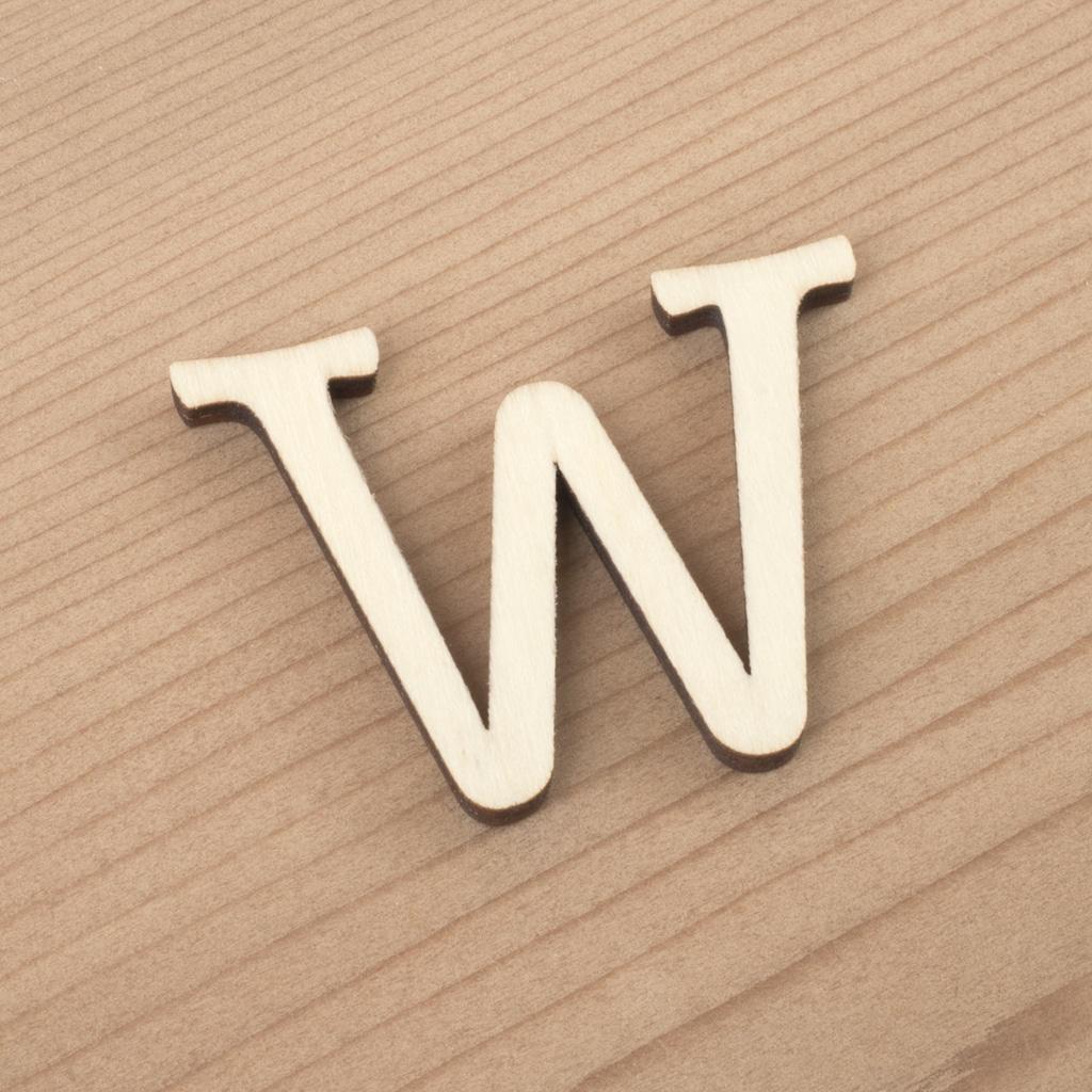 wooden 3cm alphabet letter W