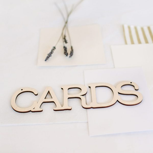 wooden hanging cards sign