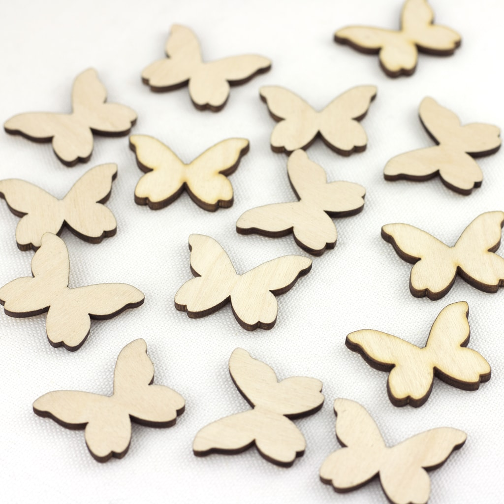 wooden butterflies