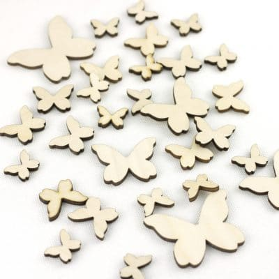 mixed wooden butterflies