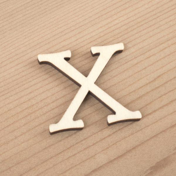 wooden 3cm alphabet letter X