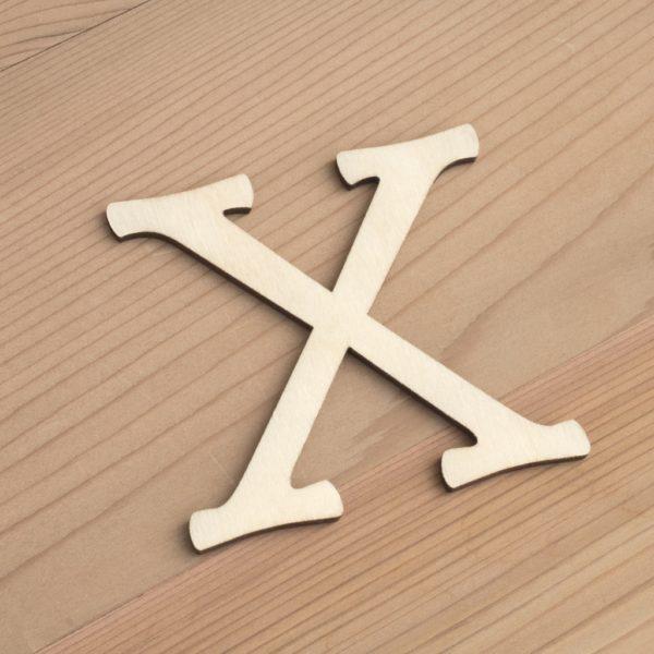 Wooden 6cm letter X