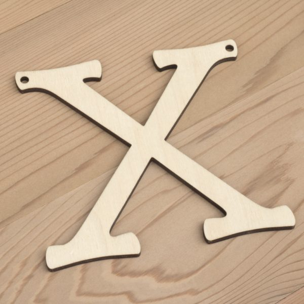 10cm alphabet bunting letter X