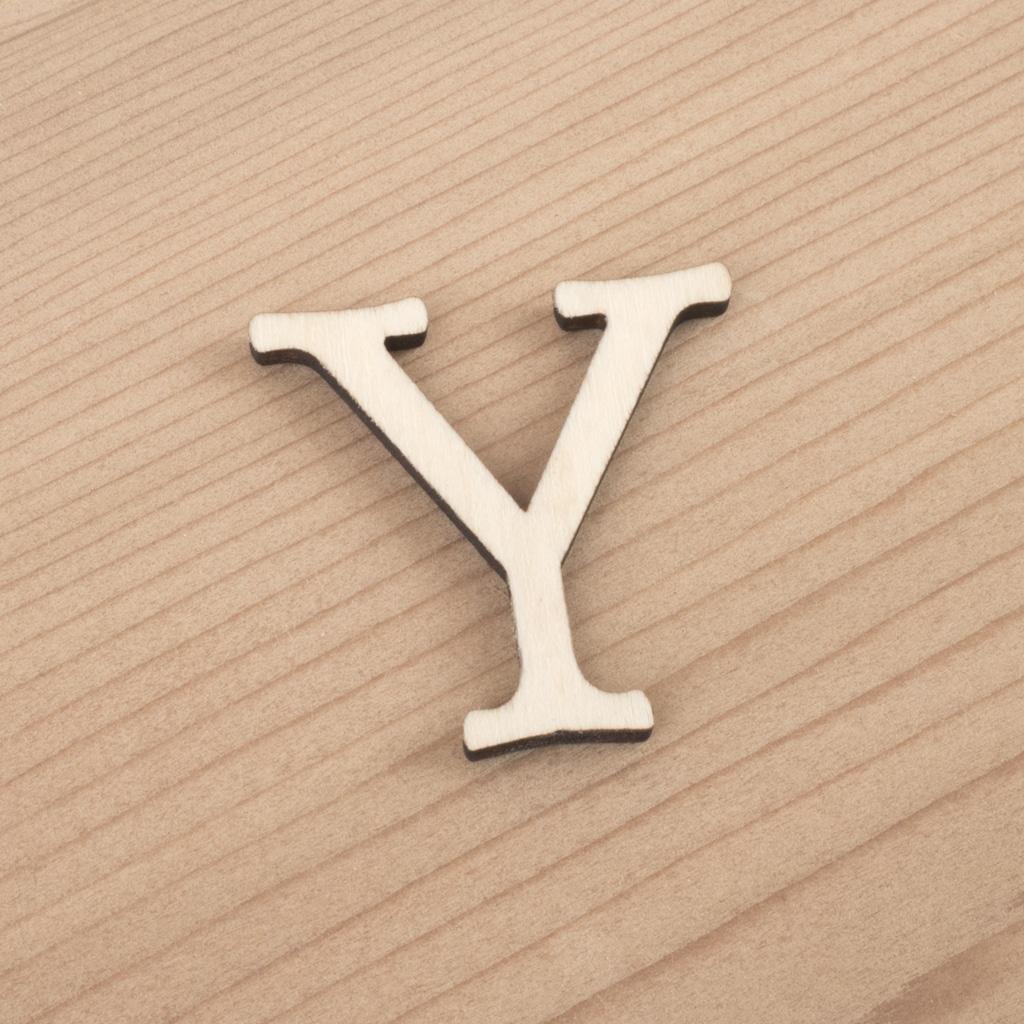 wooden 3cm alphabet letter Y