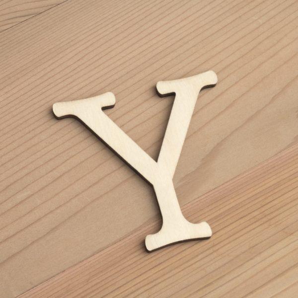 Wooden 6cm letter Y