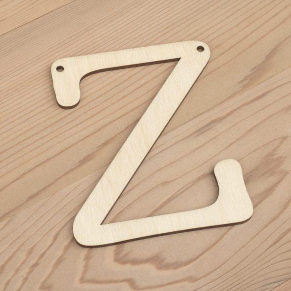 10cm alphabet bunting letter Z
