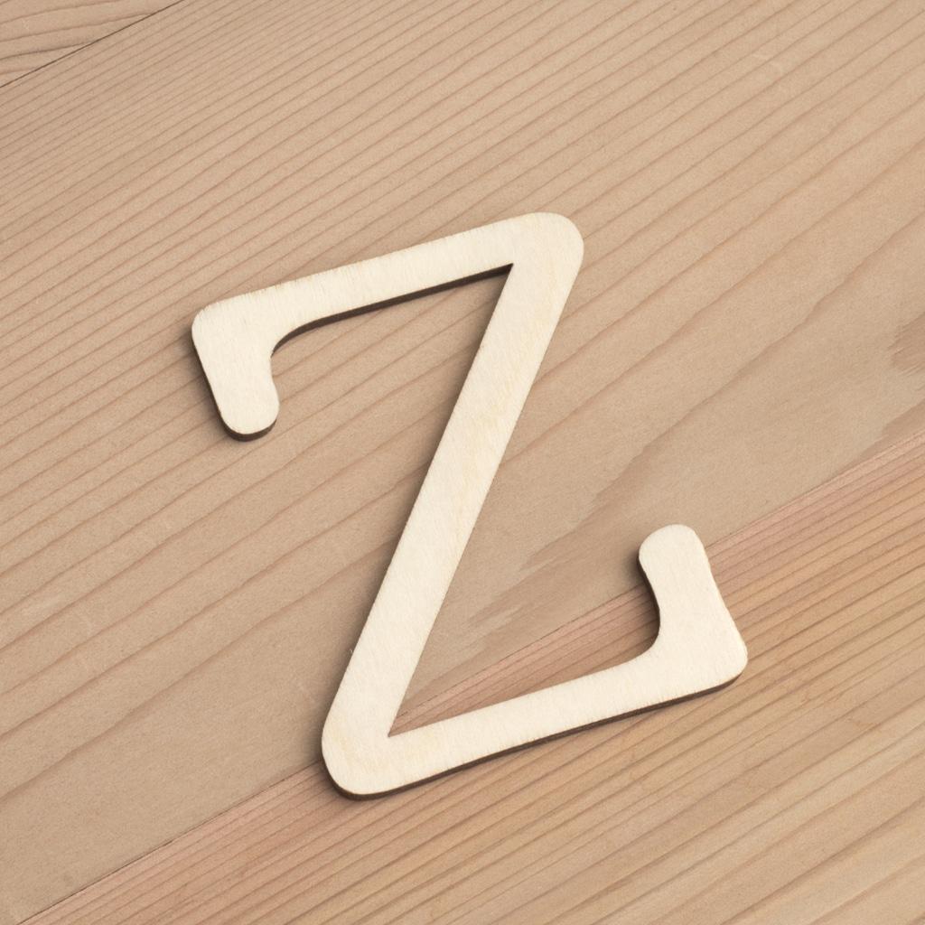 Wooden 6cm letter Z