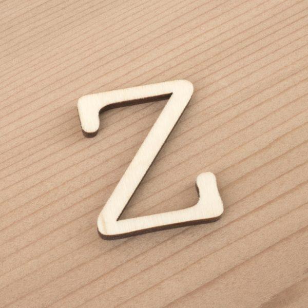 wooden 3cm alphabet letter Z
