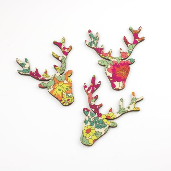 liberty print margaret annie stag heads
